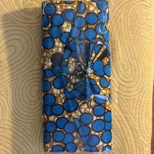 Handbags - New Authentic African print clutch purse with bow.